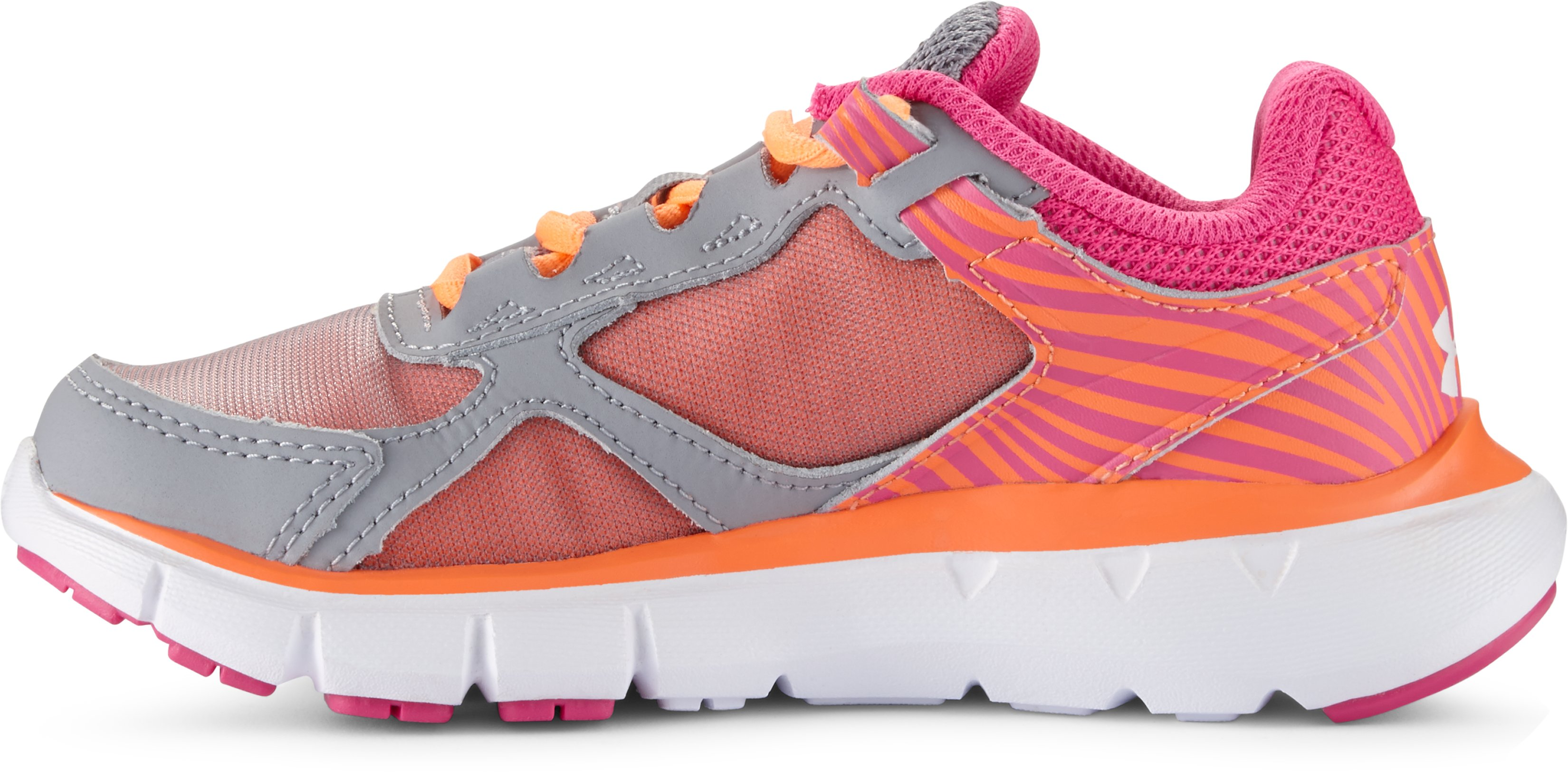 Girls' Pre-School UA Velocity Running Shoes, Steel,