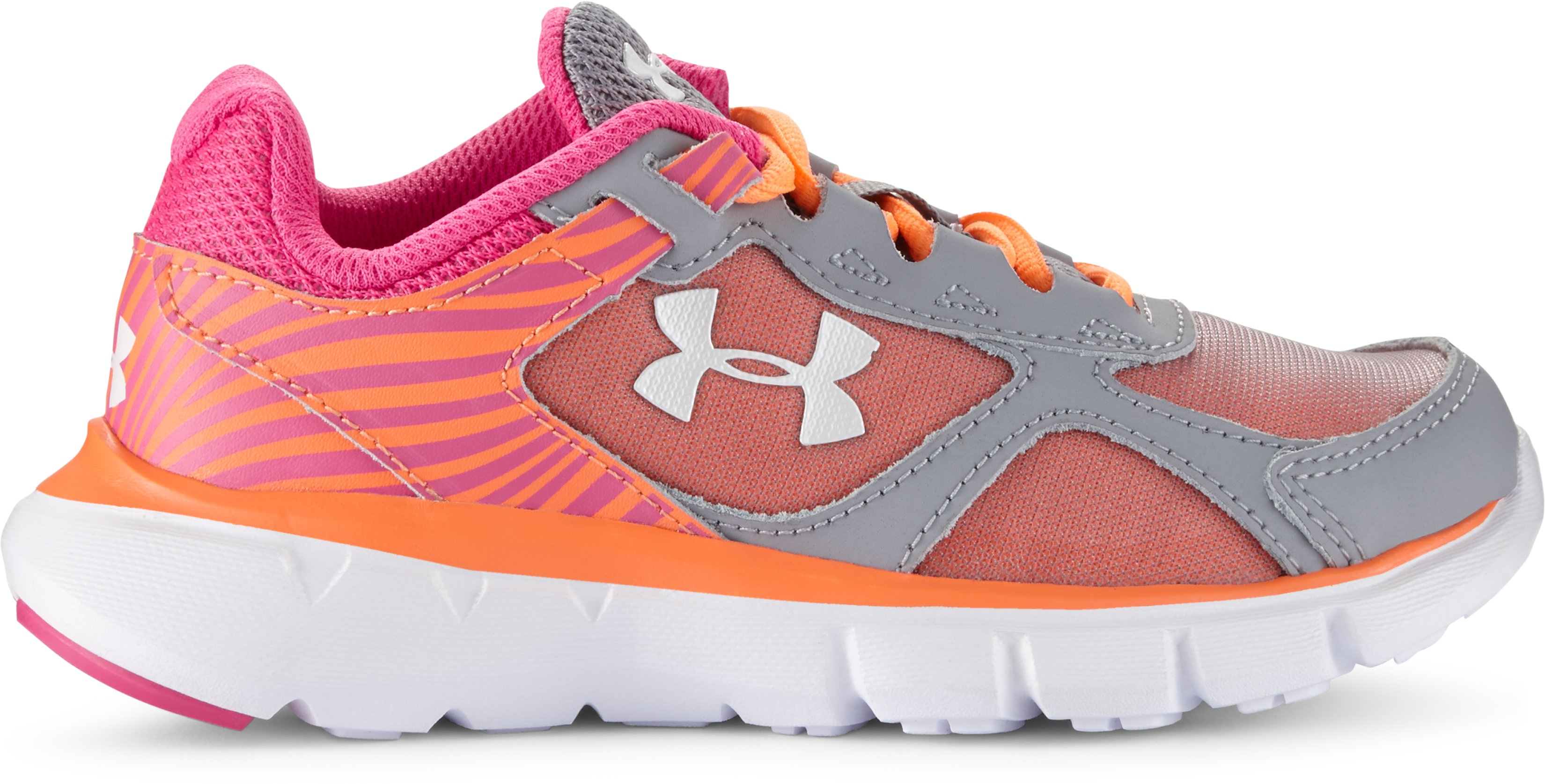 Girls' Pre-School UA Velocity Running Shoes, Steel