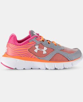 Girls' Pre-School UA Velocity Running Shoes   $41.99