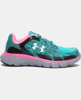 Girls' Pre-School UA Velocity Grit Running Shoes   $41.99