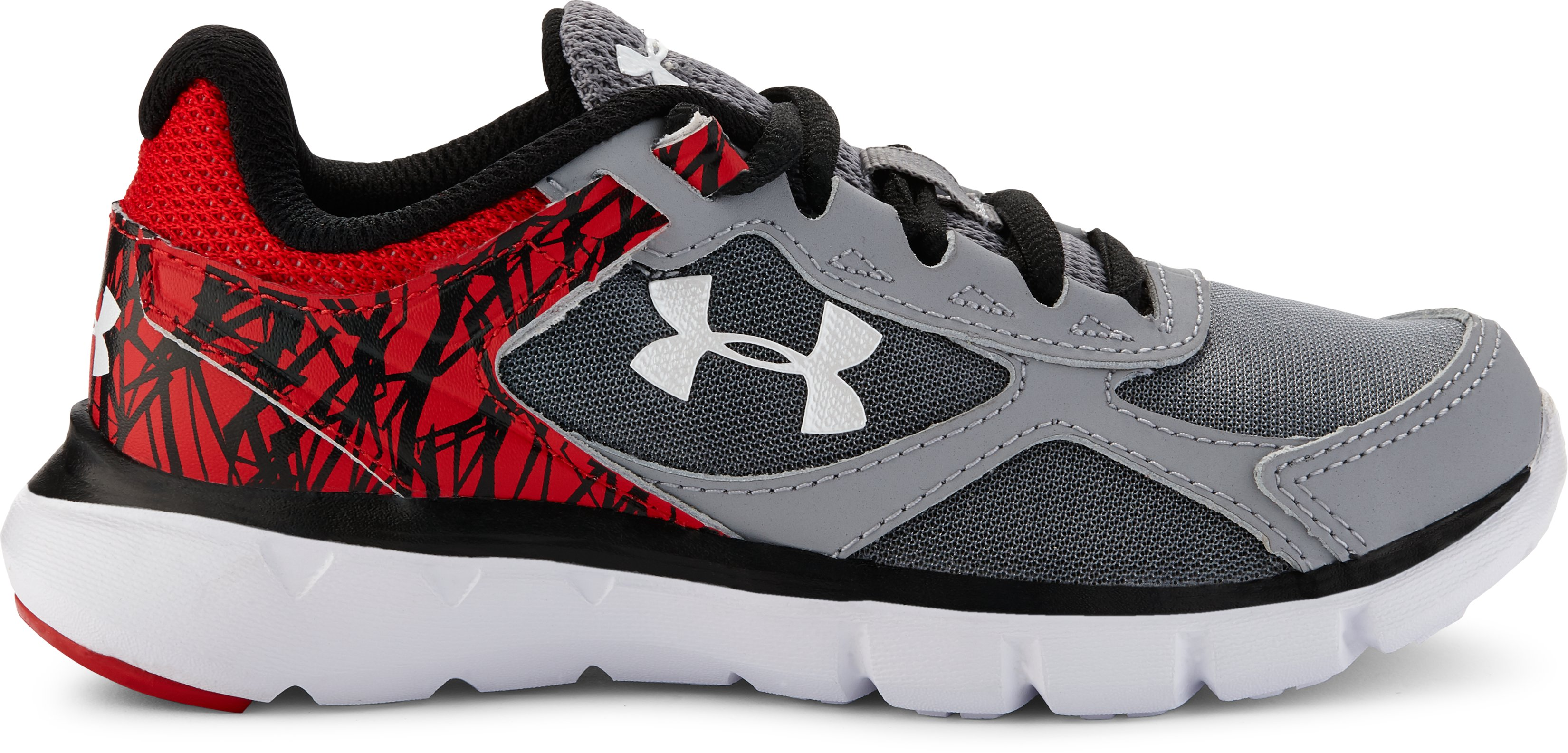 Boys' Pre-School UA Velocity Running Shoes, Steel,