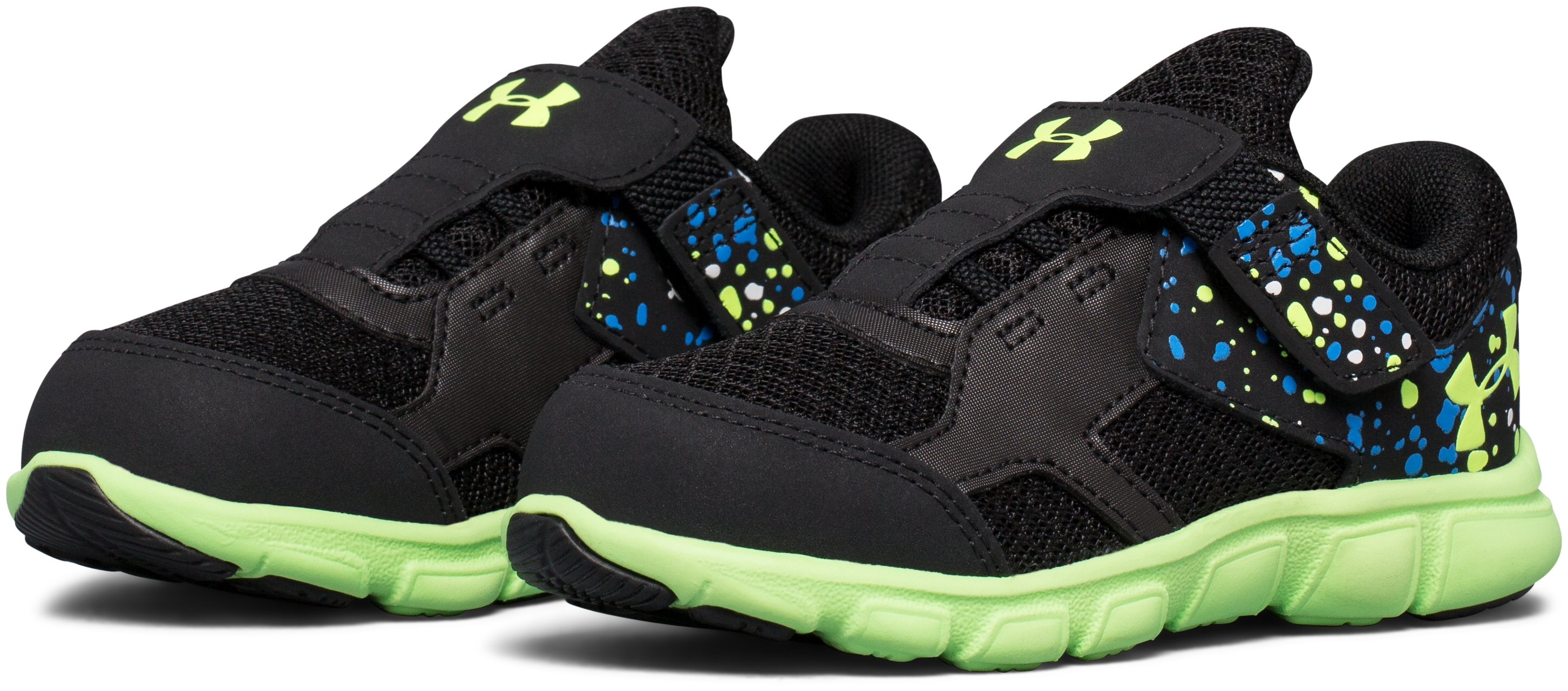 Boys' Infant UA Thrill AC Running Shoes, Black ,