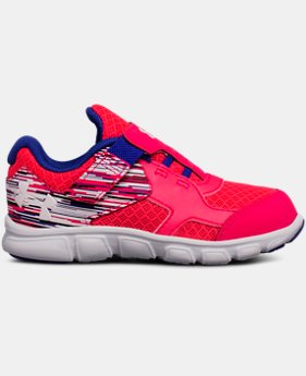 Girls' Infant UA Thrill AC Running Shoes  3  Colors Available $26.99