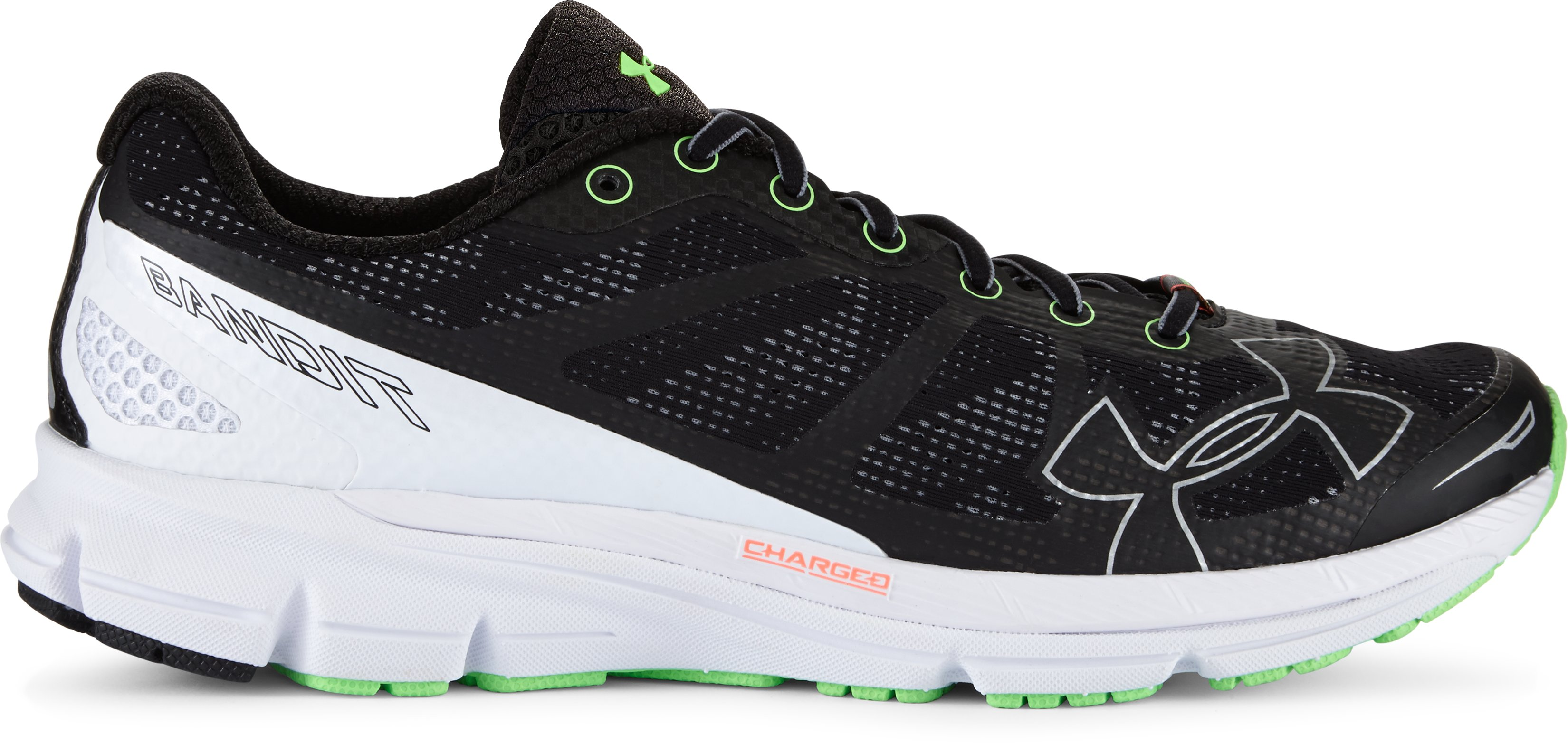 Men's UA Charged Bandit Running Shoes, Black , zoomed image
