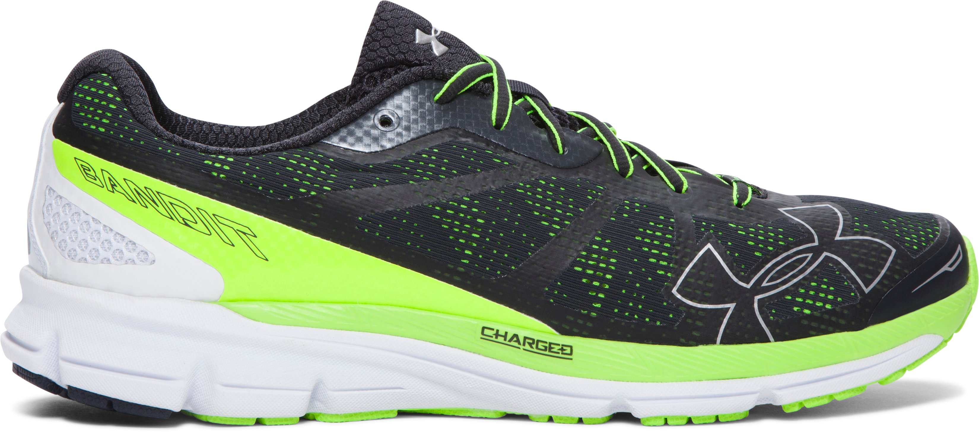 Men's UA Charged Bandit Running Shoes, ANTHRACITE