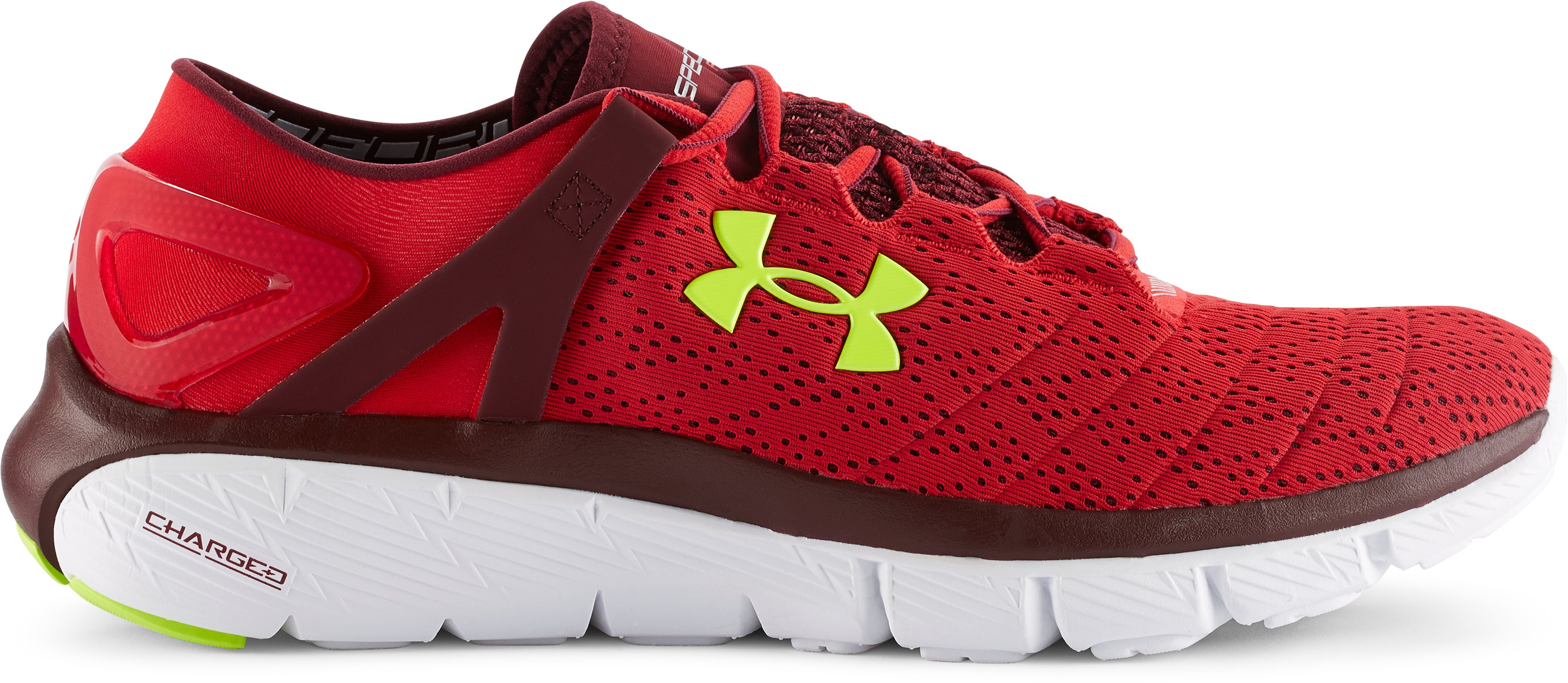 Men's UA SpeedForm® Fortis Running Shoes, Red, zoomed image