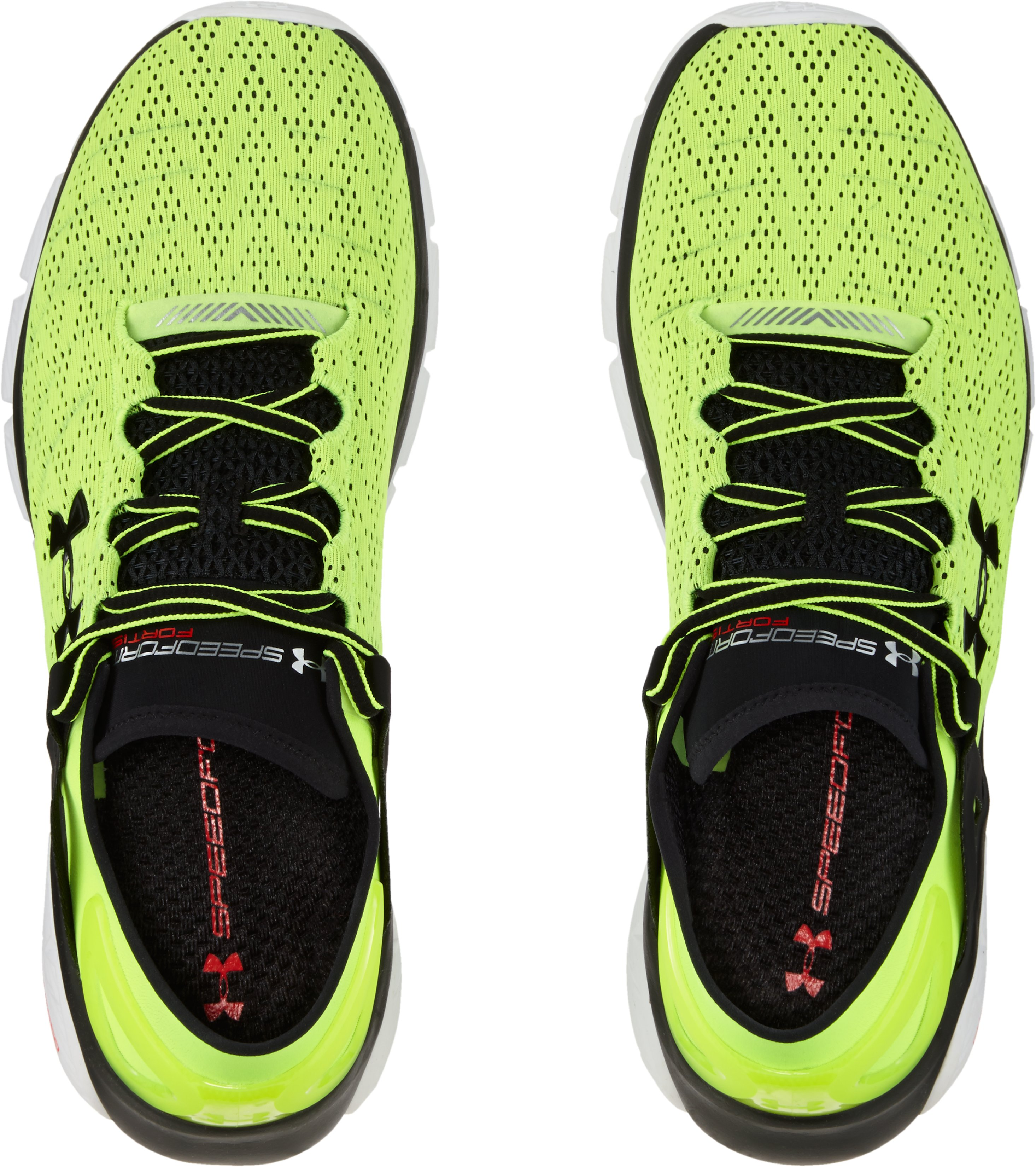 Men's UA SpeedForm® Fortis Running Shoes, High-Vis Yellow,