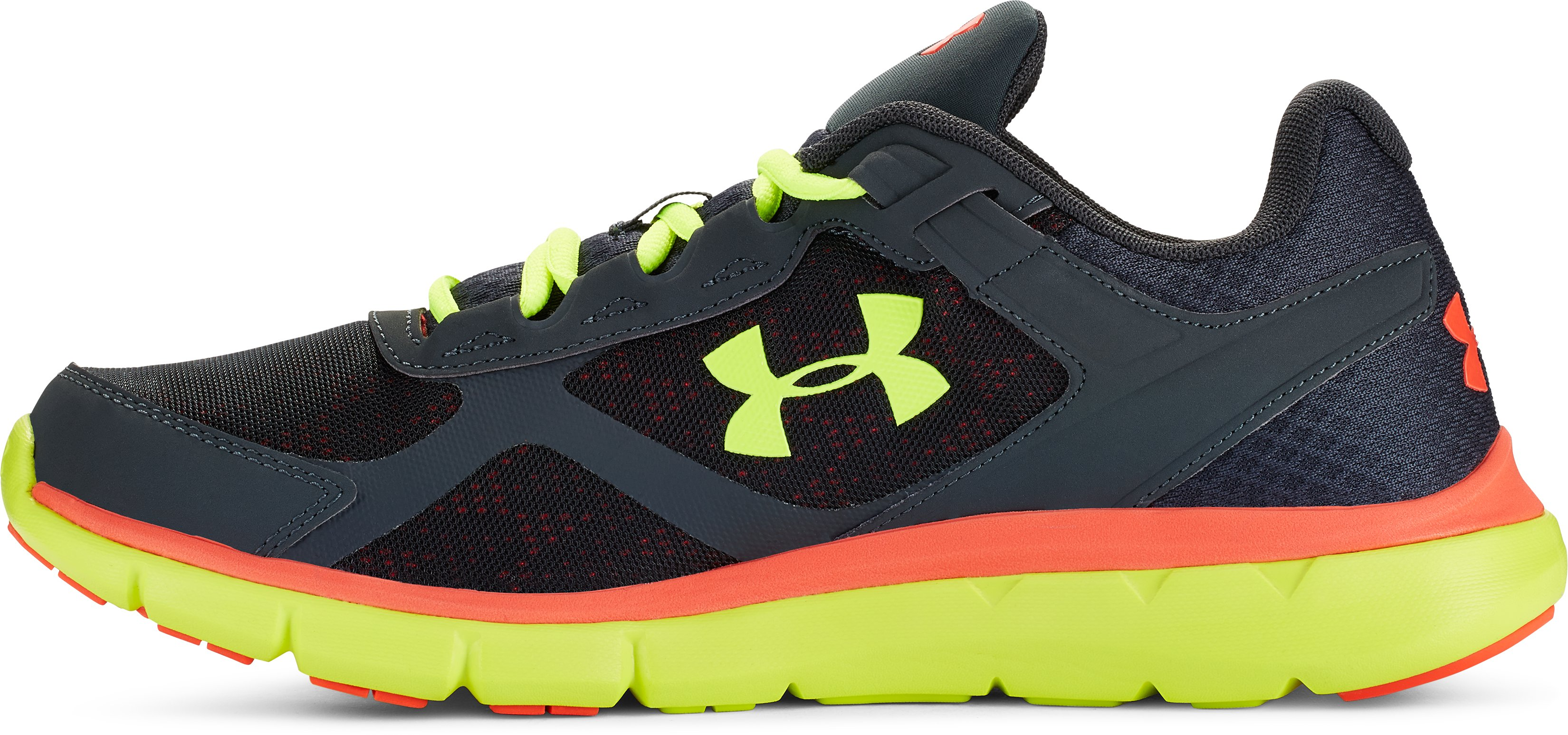 Men's UA Micro G® Velocity Running Shoes, STEALTH GRAY