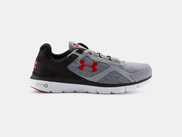 Under Armour Men's Blue Black Micro G Velocity Rn Performance Running Shoes white Superior Cheap At The Price