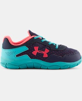 Girls' Pre-School UA Engage II BL Shoes   $24.99
