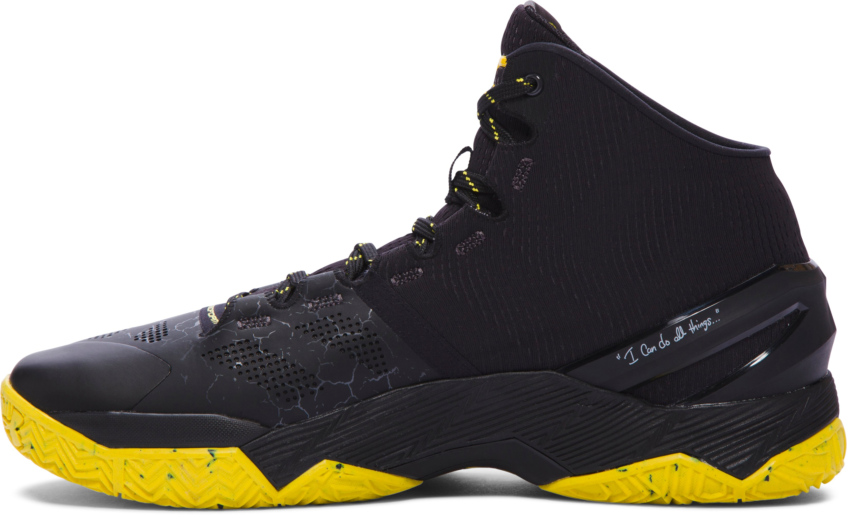 Men's UA Curry Two Basketball Shoes, Black Night