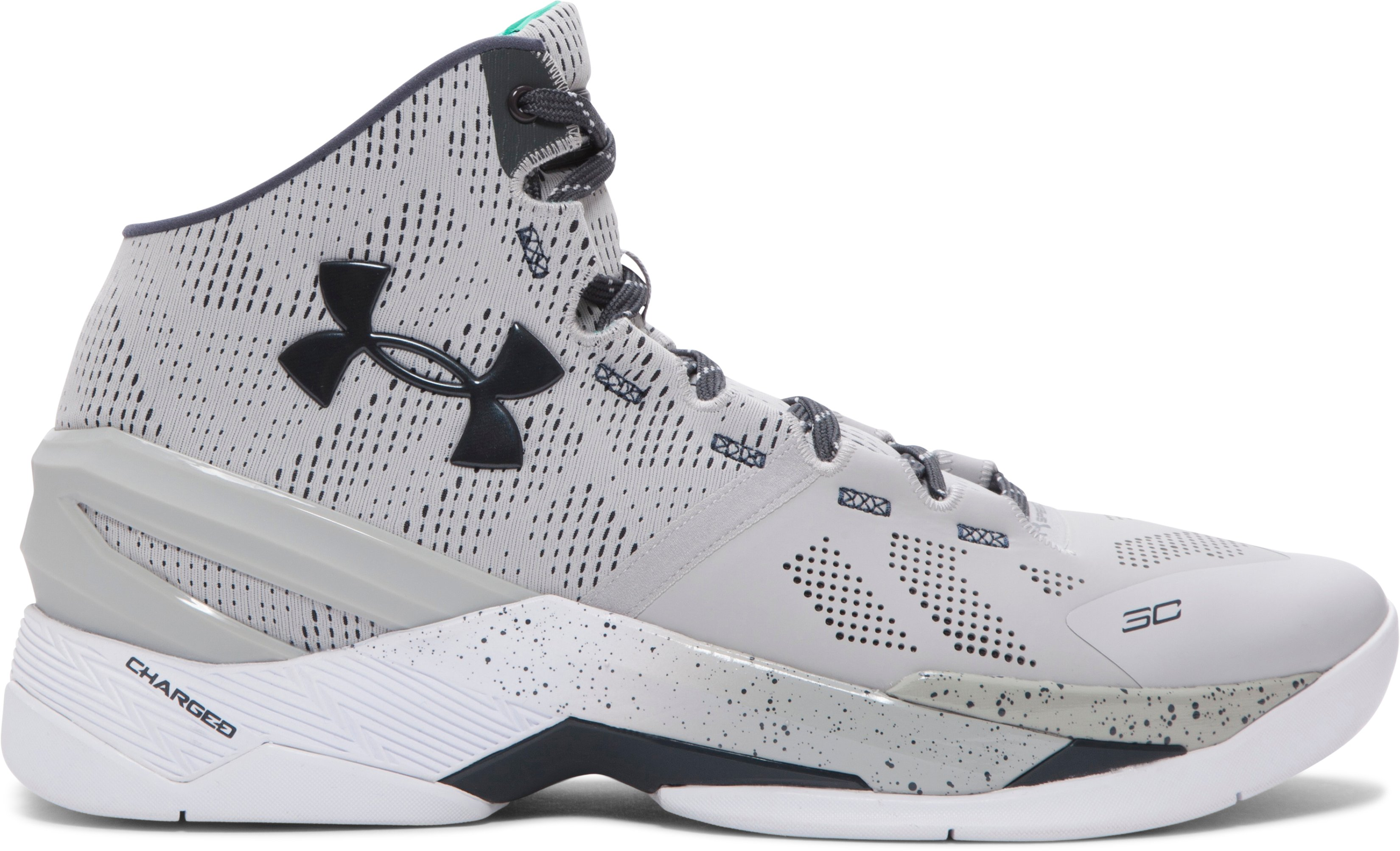 Men's UA Curry Two Basketball Shoes, Gray Storm
