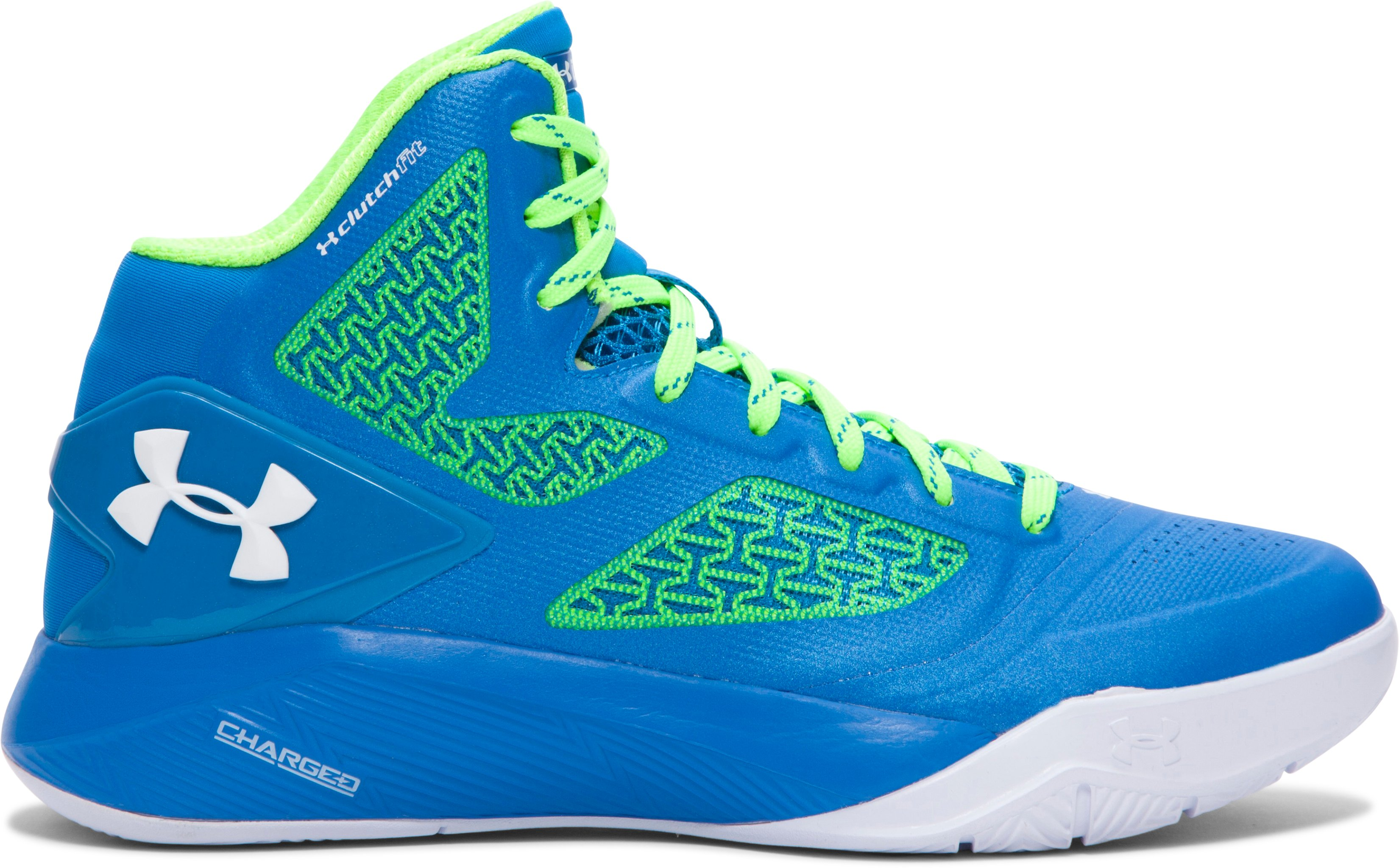 Boys' Grade School UA ClutchFit™ Drive 2 Basketball Shoes, SNORKEL, zoomed image