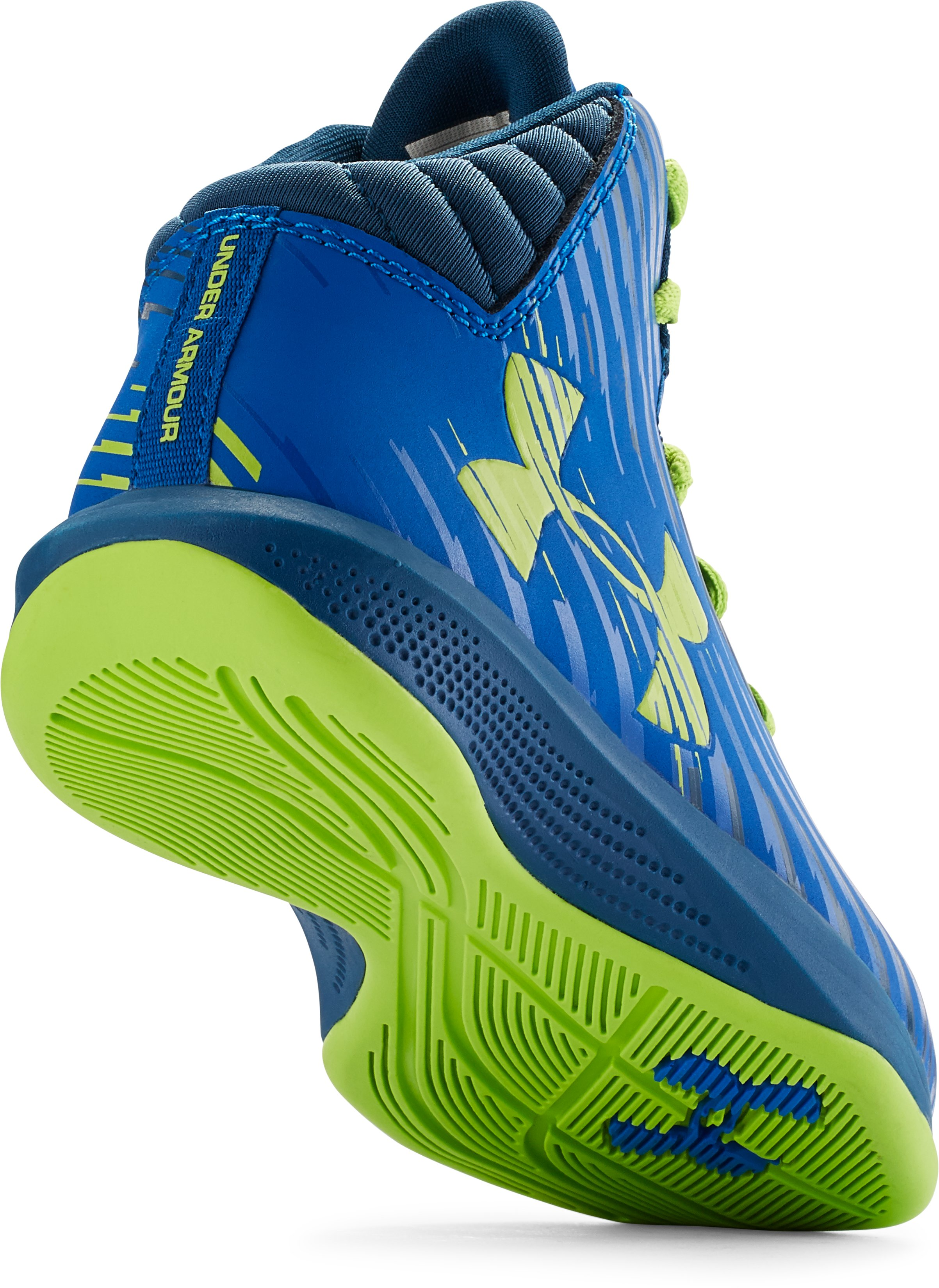 Kids' Pre-School UA Jet Basketball Shoes, PETROL BLUE, undefined