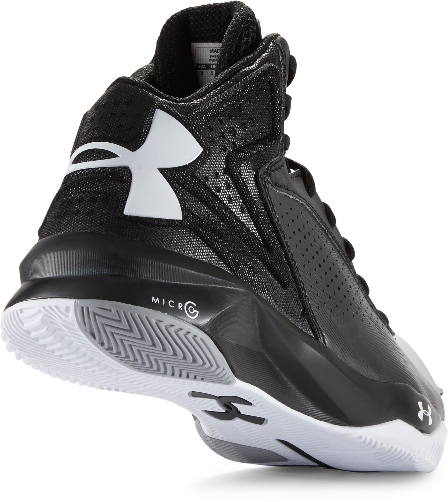 Women's UA Micro G® Torch Basketball Shoes, Black ,