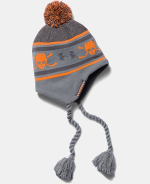 New Arrival  Boys' UA Hockey Tassle Beanie LIMITED TIME: FREE SHIPPING 1 Color $29.99