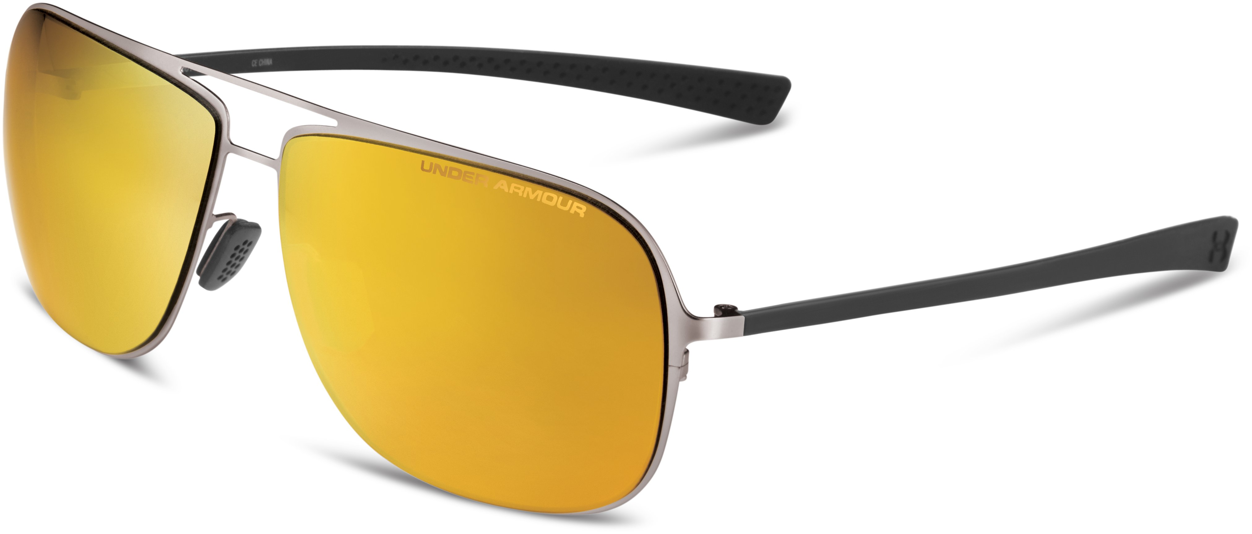 UA Alloy Storm Polarized Sunglasses, SATIN GOLD