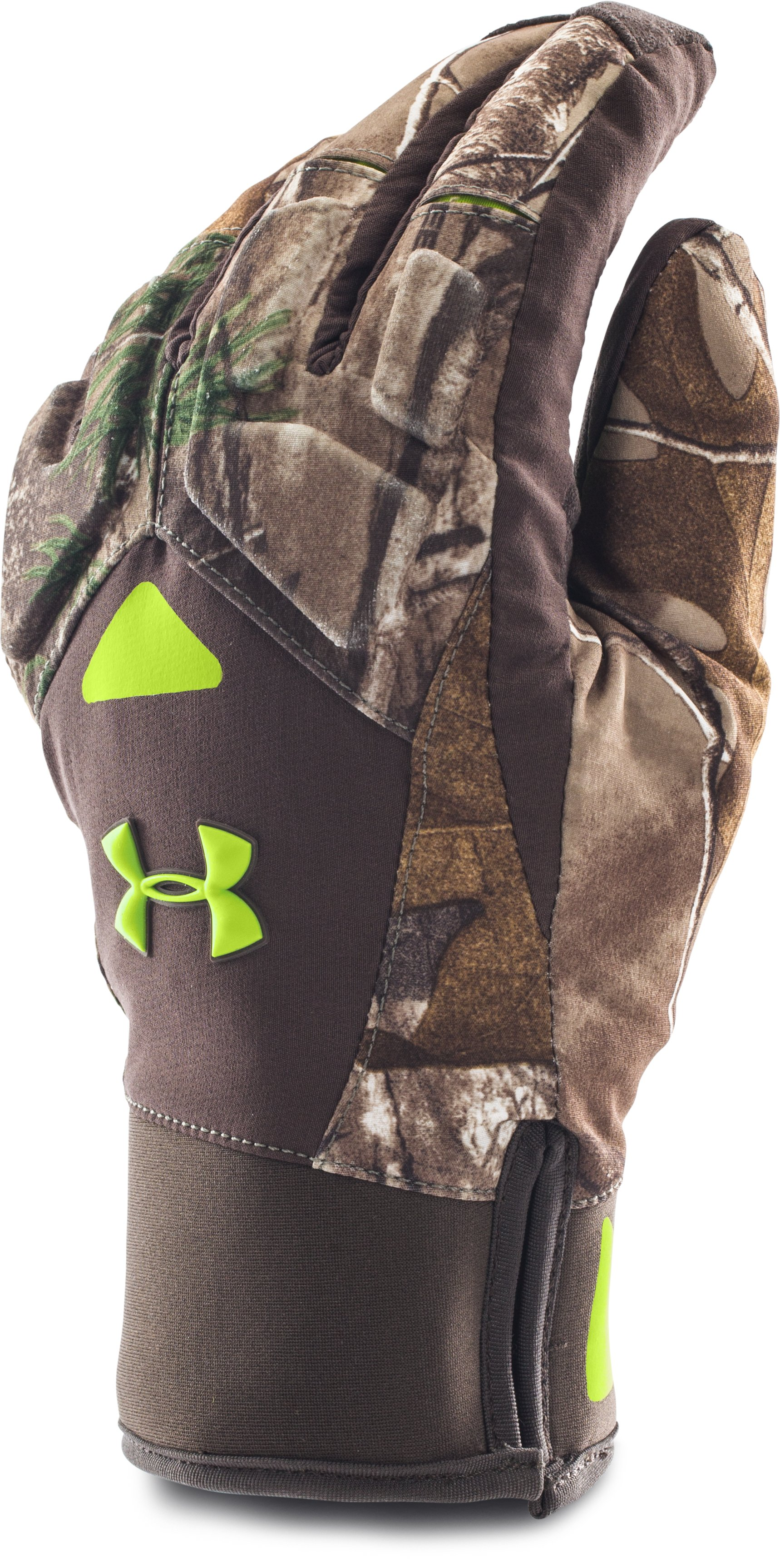 Men's UA ColdGear® Infrared Scent Control 2.0 Primer Gloves, REALTREE AP-XTRA,
