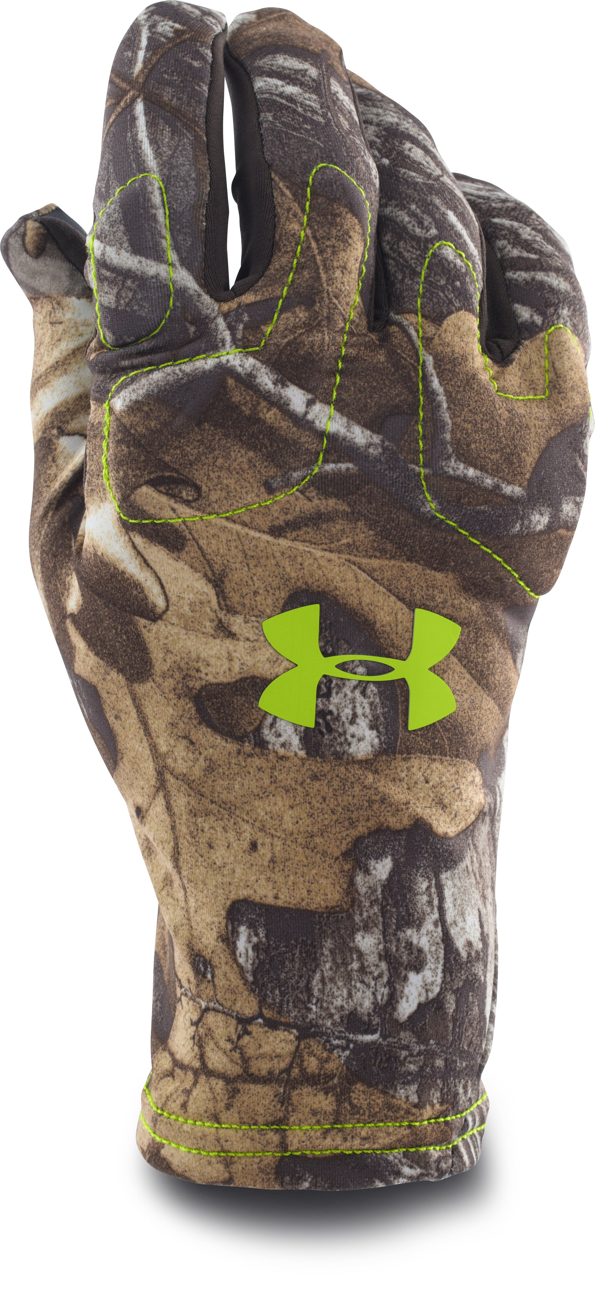 Men's UA Scent Control Gloves, REALTREE AP-XTRA, zoomed image