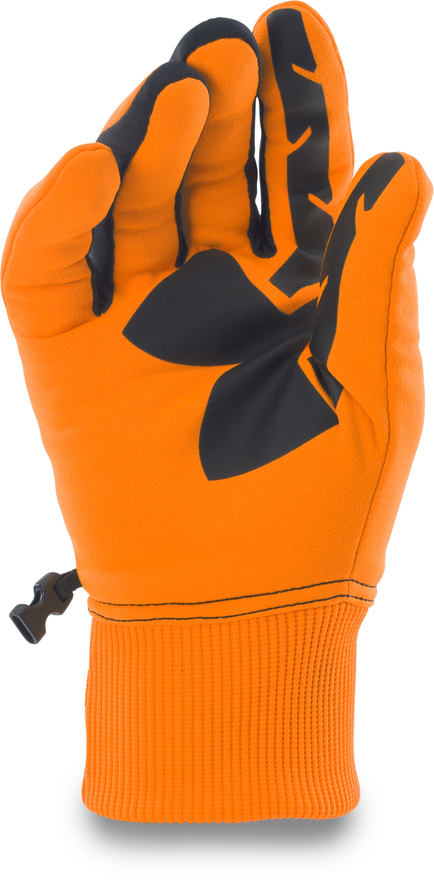 Men's UA Scent Control Armour Fleece® Gloves, Blaze Orange,