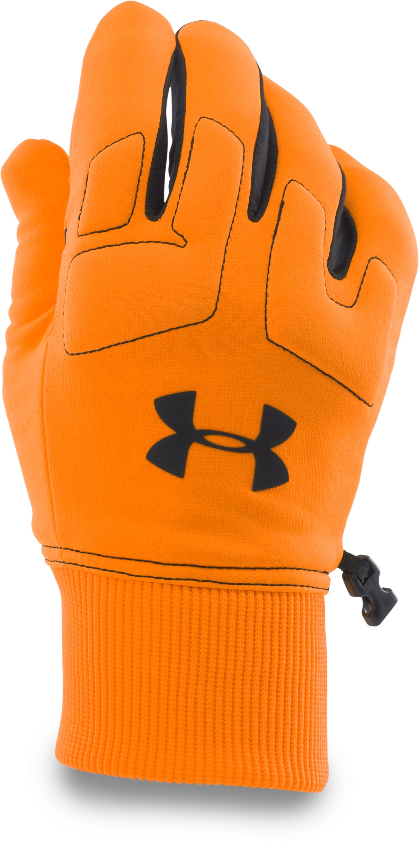 Men's UA Scent Control Armour® Fleece Gloves, Blaze Orange, zoomed image