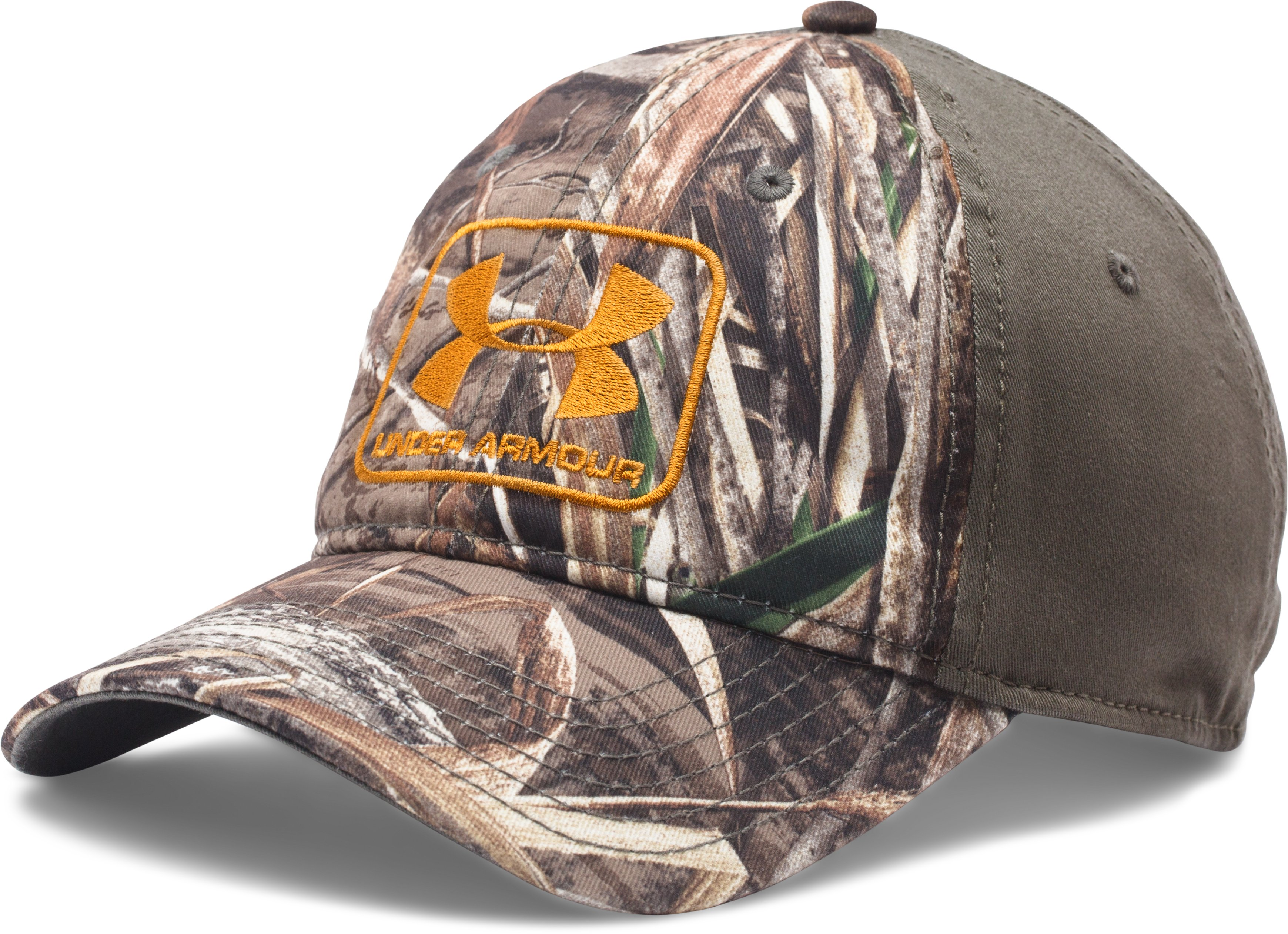 Men's UA Camo Stretch Fit Cap, REALTREE MAX 5