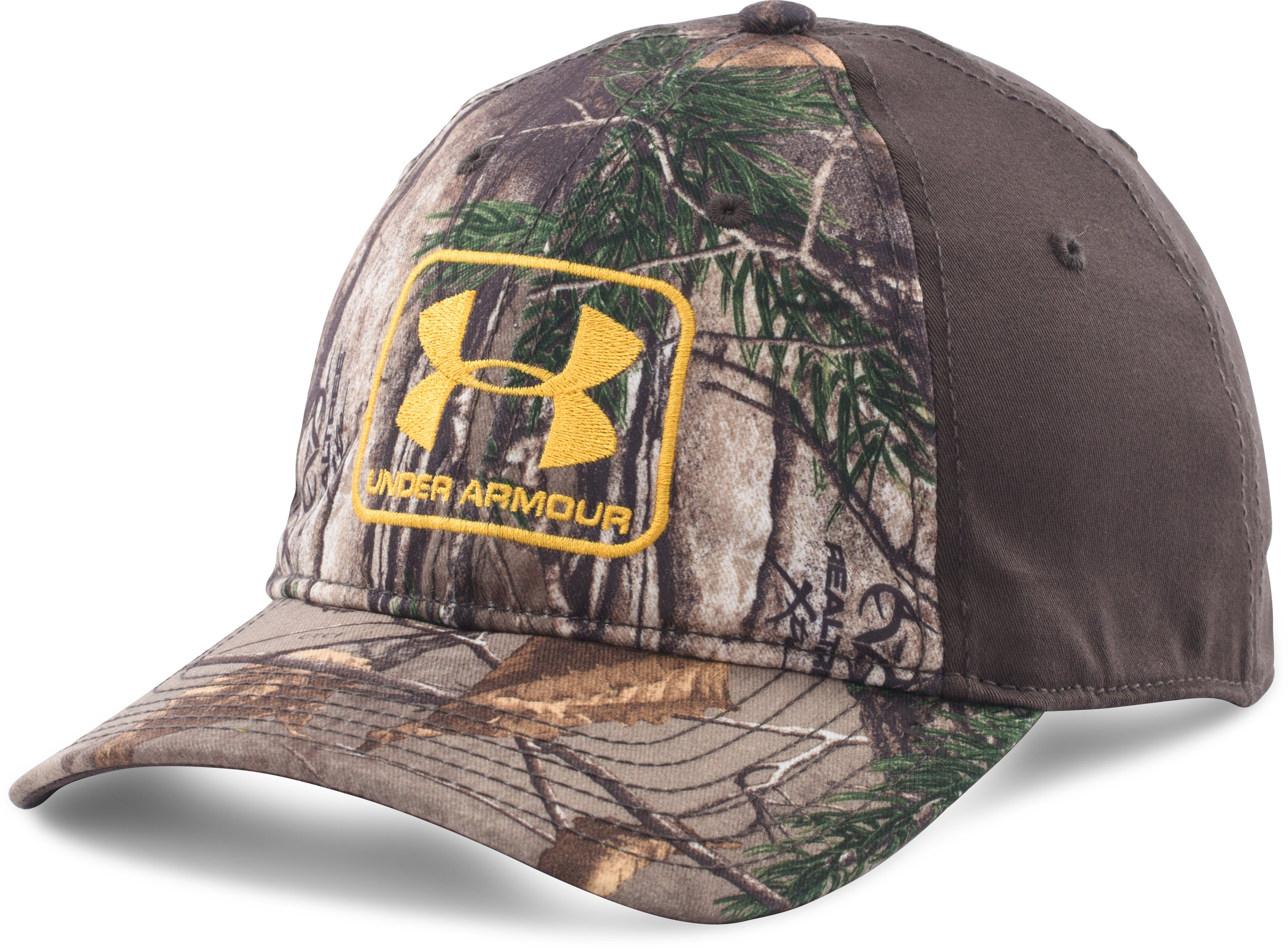 Men's UA Camo Stretch Fit Cap, REALTREE AP-XTRA, zoomed image
