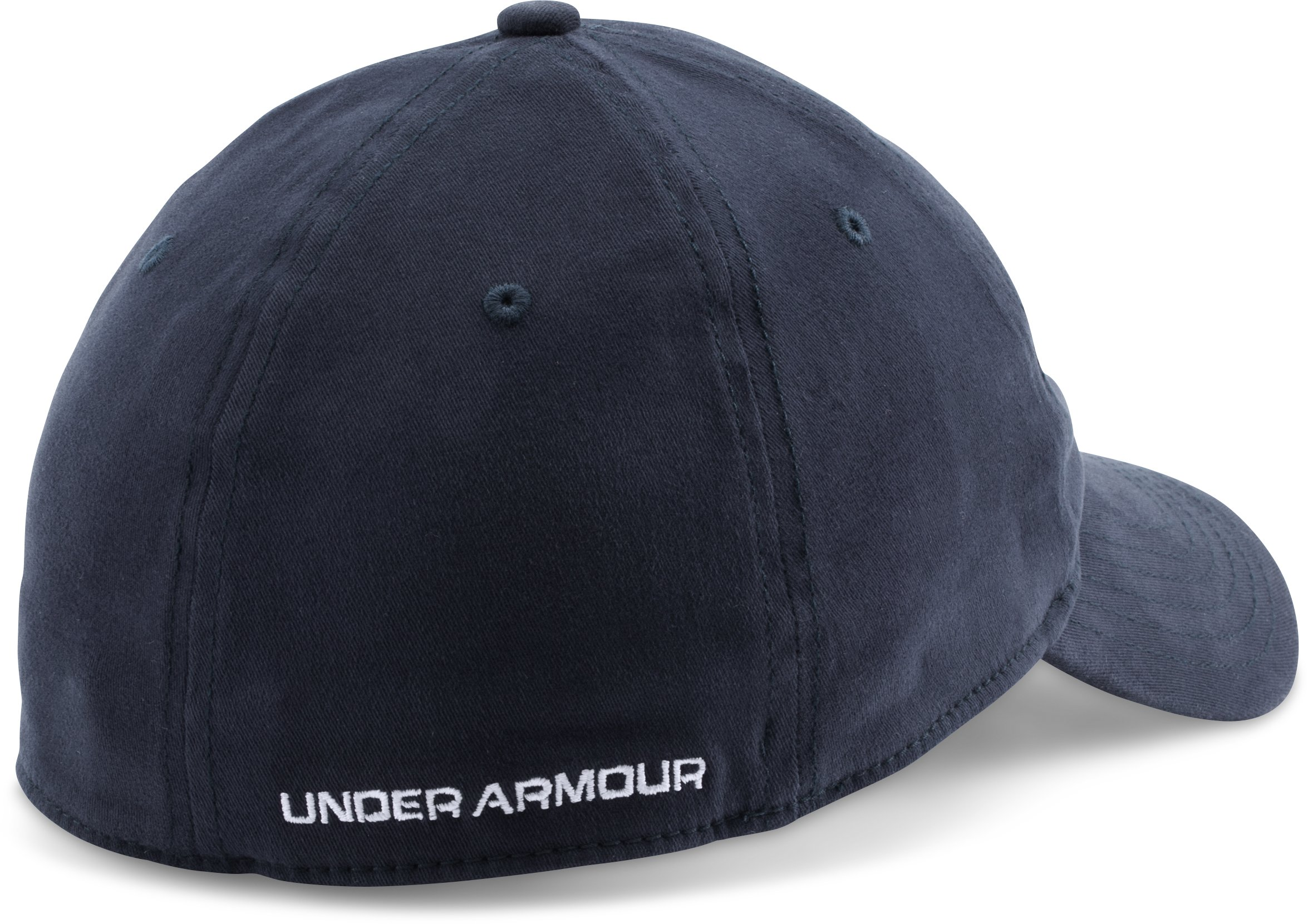 Men's UA Patch Stretch Fit Cap, Midnight Navy, undefined