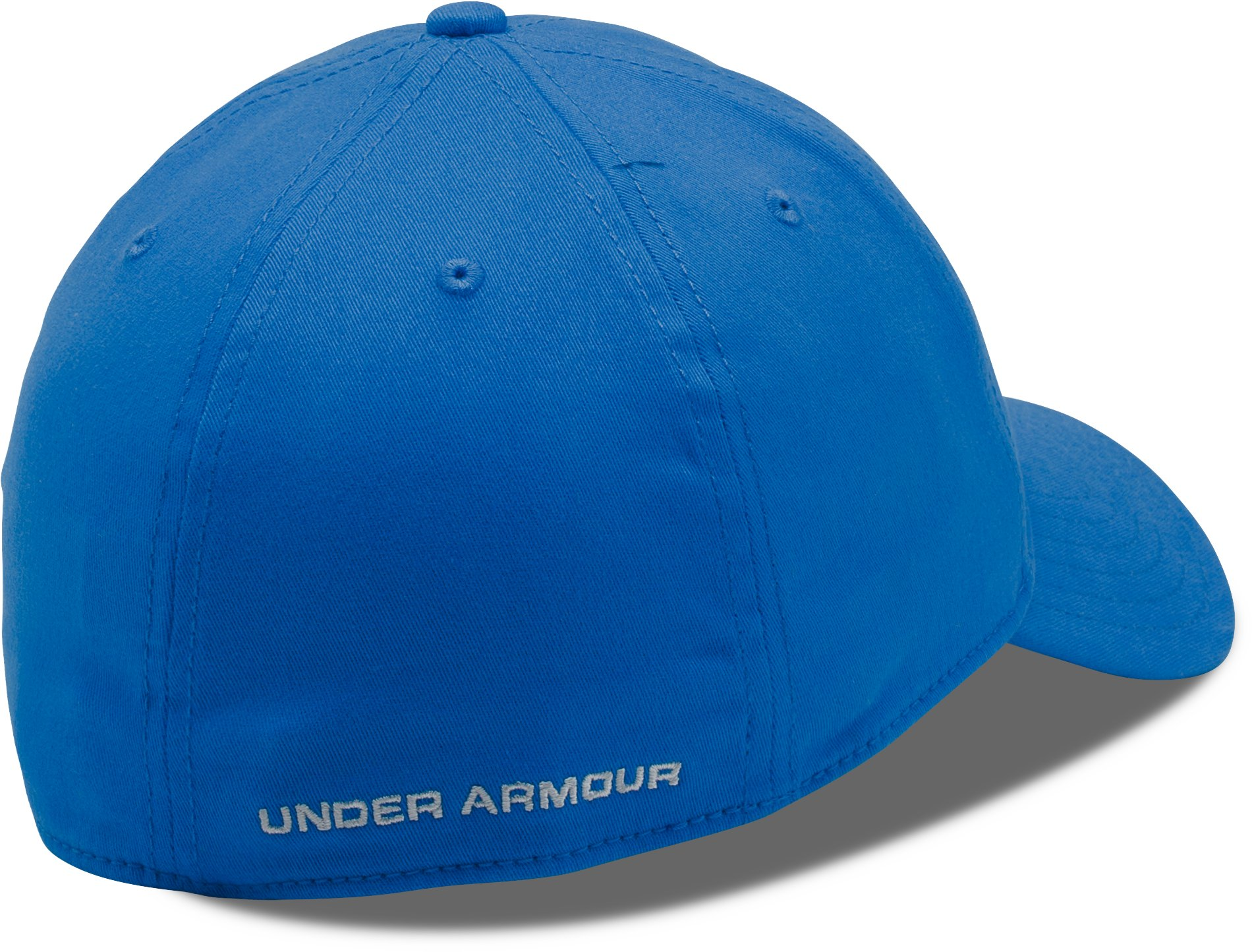 Men's UA Patch Stretch Fit Cap, BLUE MARKER,