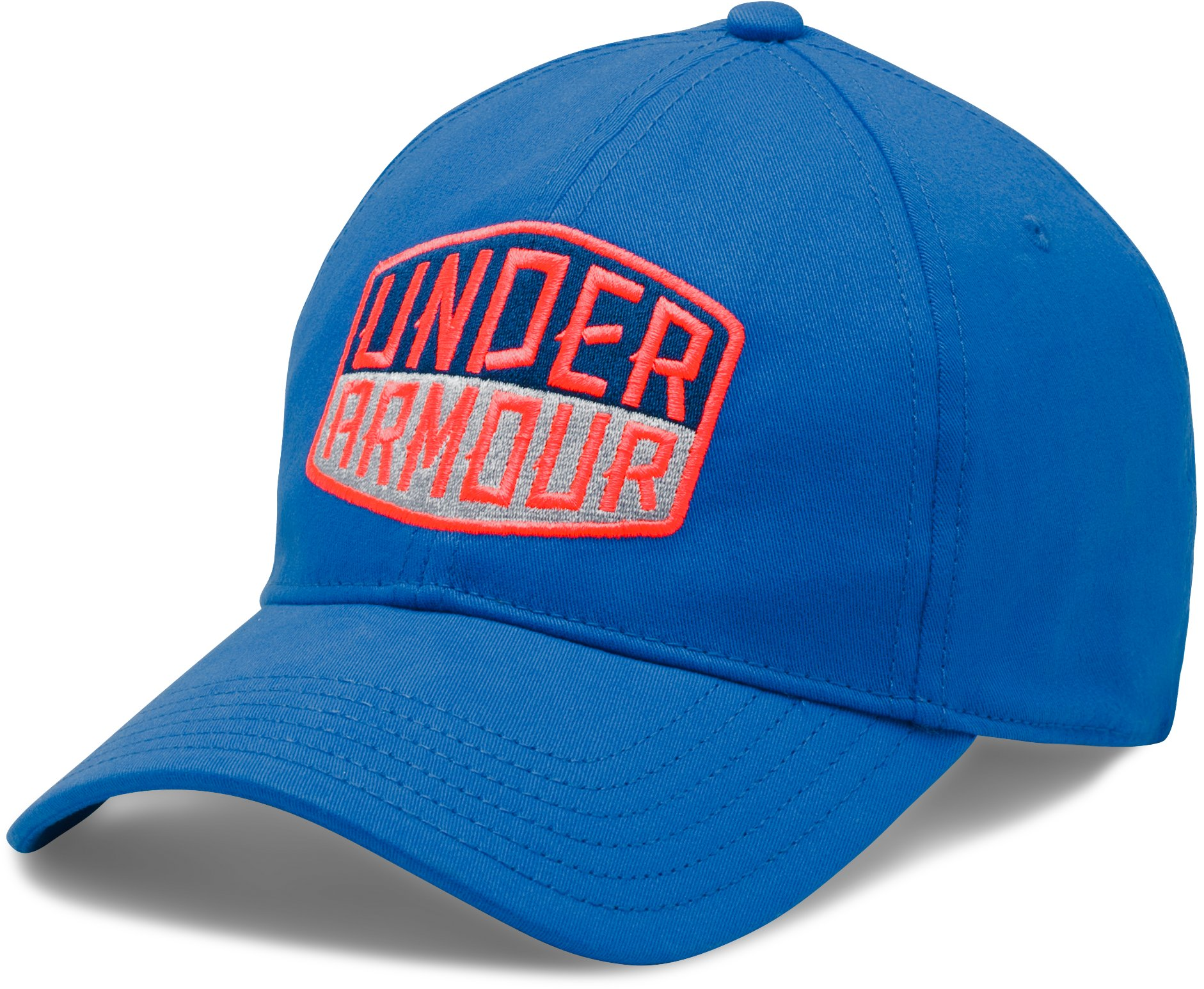 Men's UA Patch Stretch Fit Cap, BLUE MARKER