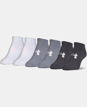 Women's UA Big Logo No-Show Socks – 6-Pack  1  Color Available $17.99