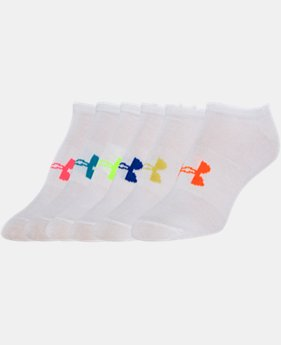 Women's UA Big Logo No-Show Socks 6-Pack