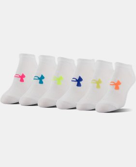 Best Seller Women's UA Big Logo No-Show Socks 6-Pack LIMITED TIME: FREE U.S. SHIPPING 1 Color $19.99
