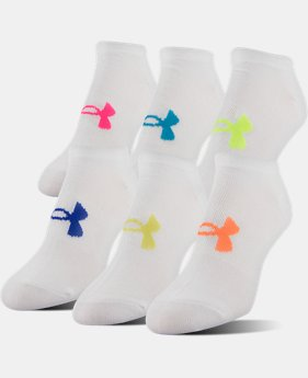 PRO PICK Women's UA Big Logo No-Show Socks – 6-Pack  8 Colors $20