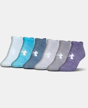 Women's UA Big Logo No-Show Socks – 6-Pack  1  Color Available $20