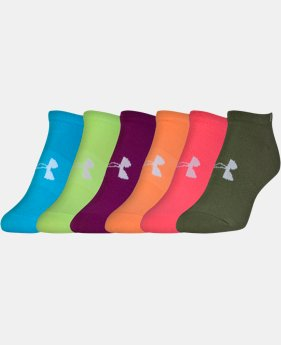 Best Seller Women's UA Big Logo No-Show Socks 6-Pack   $19.99