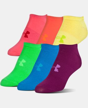 6-Pack Women's UA Big Logo No-Show Socks – 6-Pack  1 Color $15.99