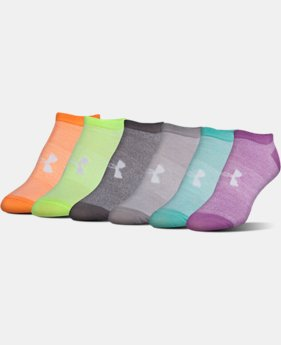 Best Seller Women's UA Big Logo No-Show Socks 6-Pack LIMITED TIME: FREE U.S. SHIPPING 6 Colors $19.99