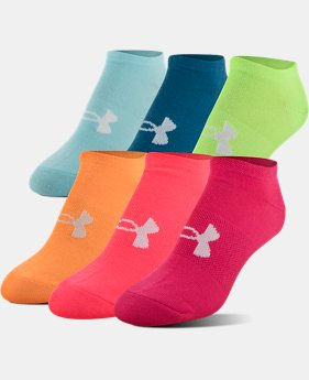 Women's UA Big Logo No-Show Socks – 6-Pack  4  Colors Available $20