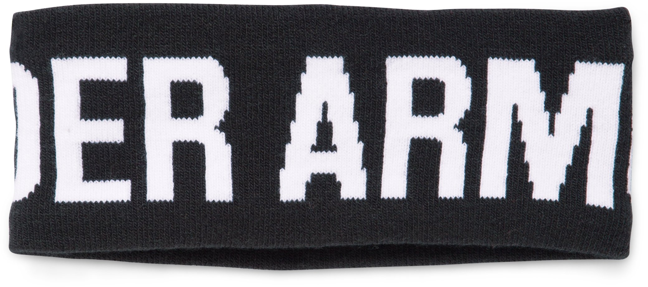 Women's UA Graphic Knit Headband, Black , undefined
