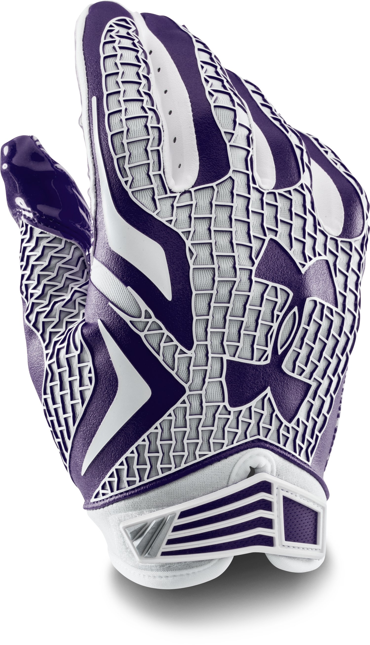 Men's UA Swarm Football Gloves, Purple, undefined