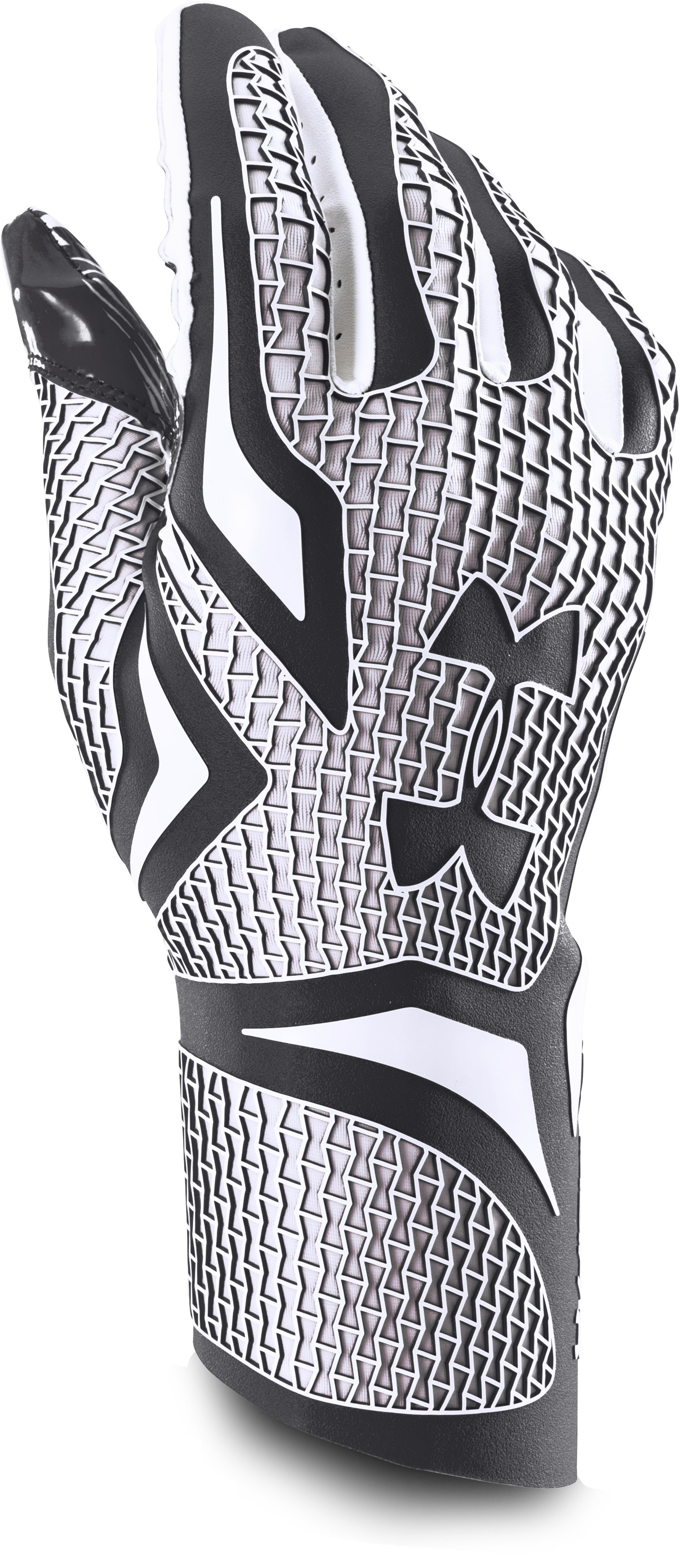 Men's UA Highlight Football Gloves, Black , undefined