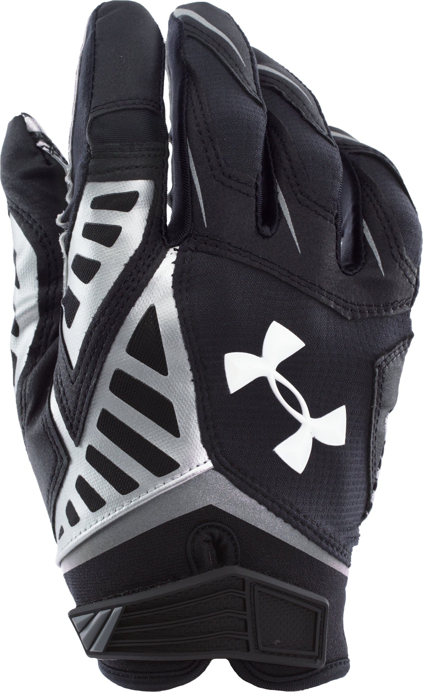 Men's UA Nitro Warp II Football Gloves, Black