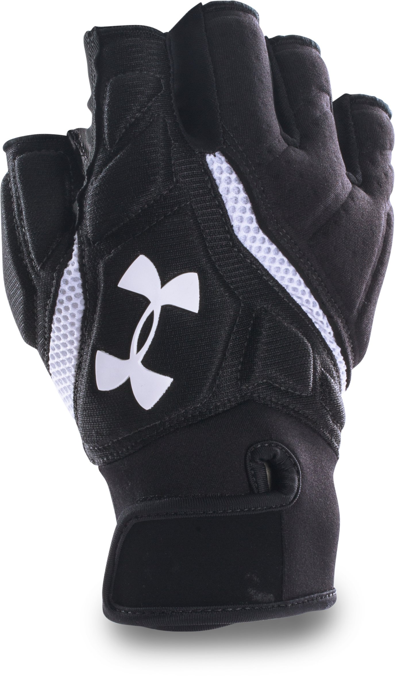 Men's UA Combat IV Half-Finger Football Gloves, Black