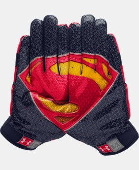 Men's UA Alter Ego F4 Superman Football Gloves   $26.99