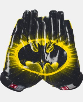 Men's UA Alter Ego F4 Batman Football Gloves   $26.99