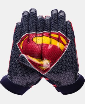 Boys' UA F4 Superman Football Gloves   $22.49