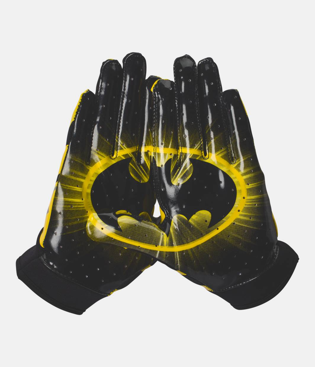 Childrens black leather gloves - Boys Ua Alter Ego F4 Batman Football Gloves 34 99