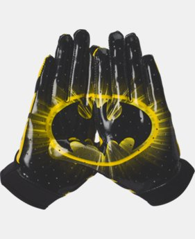 Boys' UA Alter Ego F4 Batman Football Gloves