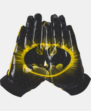 Boys' UA Alter Ego F4 Batman Football Gloves LIMITED TIME: FREE U.S. SHIPPING 1 Color $34.99
